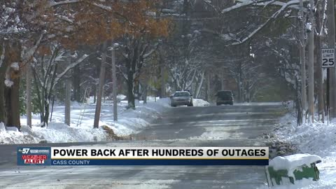 Cass County Residents brave the cold, despite temporary power...