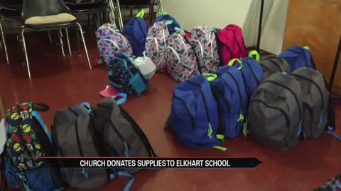 Elkhart church gives away school supplies, Michiana school openings list