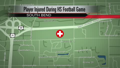 Clay football player taken to hospital after big hit during game
