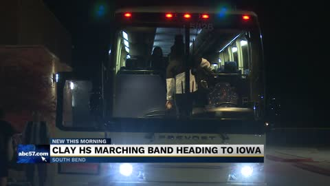 Clay High School marching band heading to Iowa