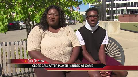 Local high school football player speaks out after scary hit