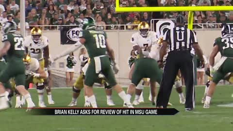 Coach Kelly asking ACC to review questionable hit
