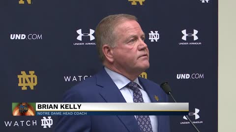 Coach Kelly discusses Notre Dame's big rivalry game against...