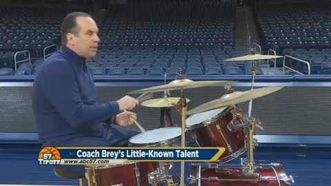 Coach Brey's two passions: Basketball and drumming