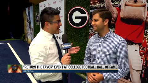 College Football Hall of Fame hosts 'Return the Favor'