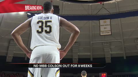 Notre Dame star forward Colson out with foot injury