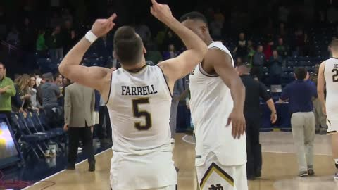 Colson returns and Irish top Pittsburgh in emotional Senior Night