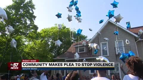 Community makes another plea to end gun violence at balloon release Wednesday
