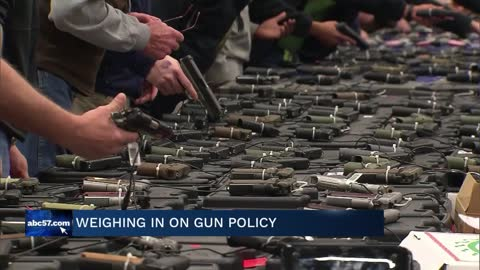 Community members talk gun control