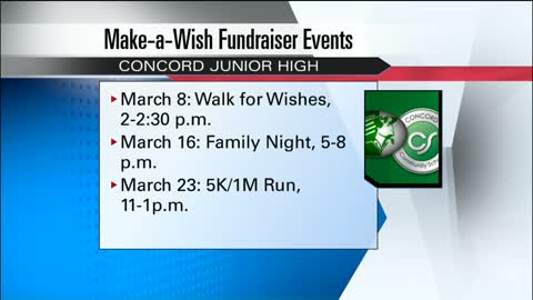 Concord Junior High School helps raise money for Make-A-Wish...
