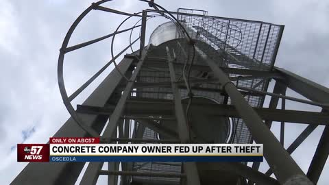Concrete company owner fed up after weekend theft