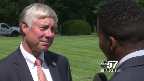 Congressman Fred Upton helped McCloughan receive Medal of Honor