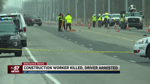 Construction worker killed in crash on IN 931