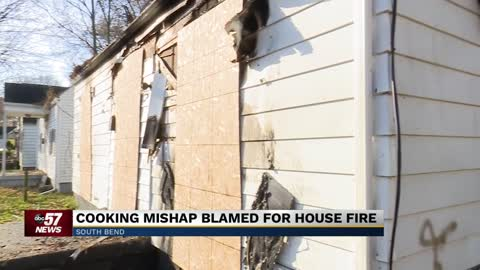 Cooking mishap leads to house fire in South Bend, officials say