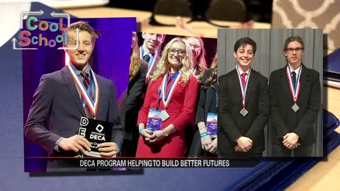 Seven Bridgman students competing at international DECA competition