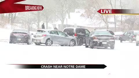 First measurable snowfall causes slick roads, crashes