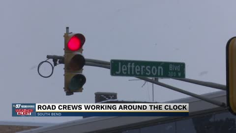 Crews in South Bend focus on keeping streets clear of snow and...