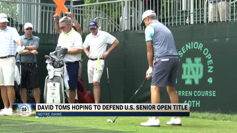 David Toms eyes rare repeat as US Senior Open champion
