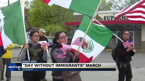 'Day without immigrants march' for licenses for undocumented immigrants