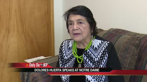 Social activist Dolores Huerta speaks on the power of having a voice