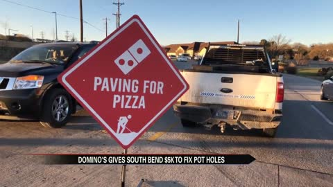 Domino's gives South Bend a grant to fix potholes
