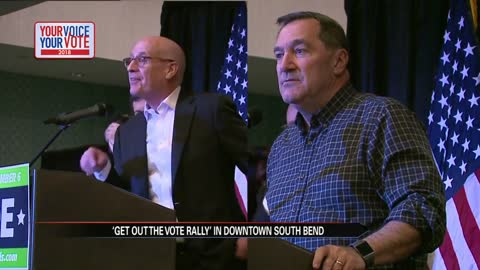 Donnelly, Hall hold last rally before polls open November 6