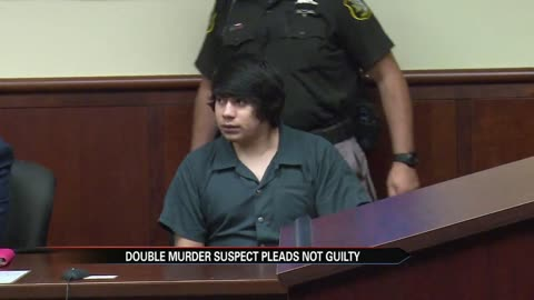 Double homicide and kidnapping suspect pleads not guilty