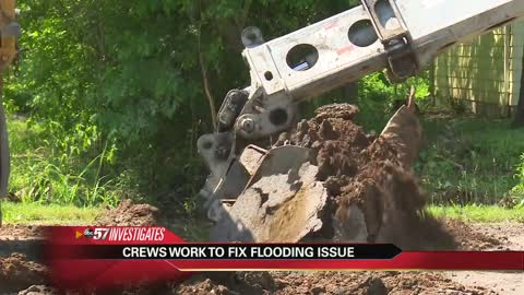 Crews work to fix flooding problems after ABC57 investigative report