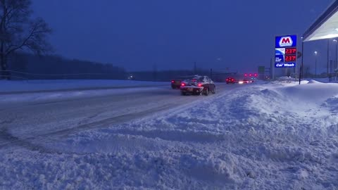 Drivers look to avoid the roads after big snow storm