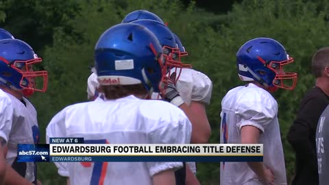 Edwardsburg football embracing title defense