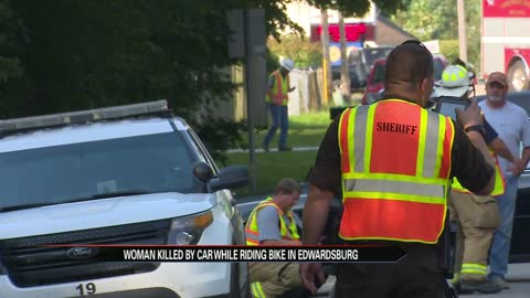 Woman killed by car while riding bike in Edwardsburg