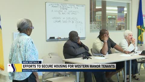 The effort continues to secure housing for Western Manor tenants