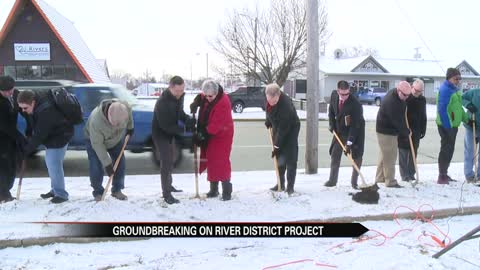 Elkhart leaders break ground on River District Streetscape Project