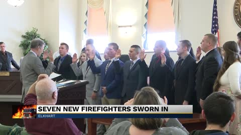 Elkhart Fire Department swears in new firefighters