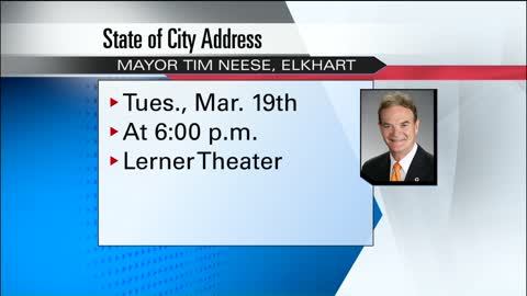 Elkhart Mayor Tim Neese to hold fourth State of City address