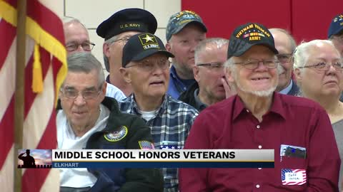 Elkhart middle school celebrates Veterans Day