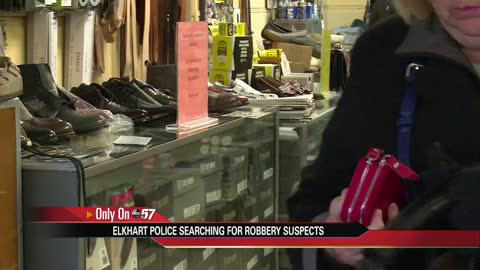 Police looking for suspects in shoe repair shop robbery
