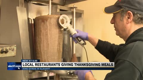 Elkhart restaurant offers free meals to families in need for Thanksgiving