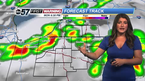 Storms mainly after midday, severe threat