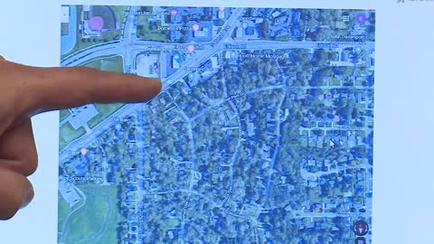 Explanation of map showing area where South Bend Avenue fatal...