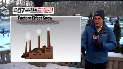 Rare factory-effect snow