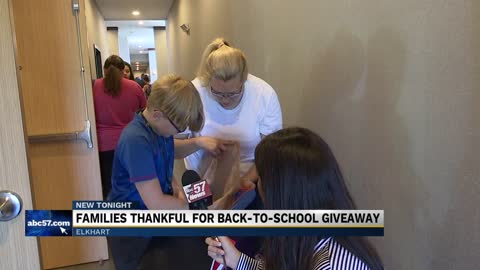 Back-to-school giveaway in Elkhart helps parents struggling with high shopping costs
