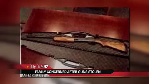 Niles man searching for stolen guns