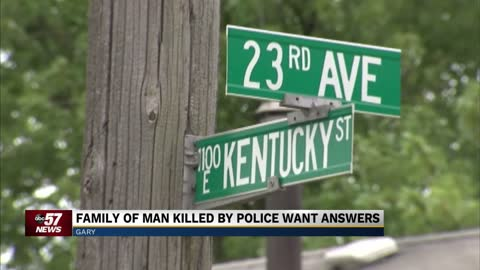 Family wants answers after an officer shot a man outside his home in Gary, Indiana