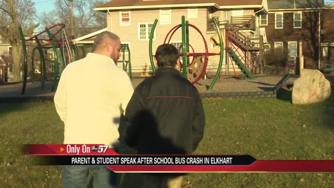 Father and son relive Elkhart school bus crash