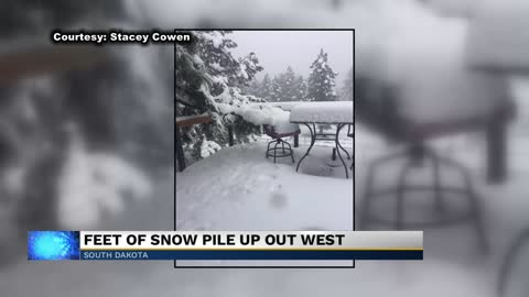 Record snowfall blankets the northern plains in late May