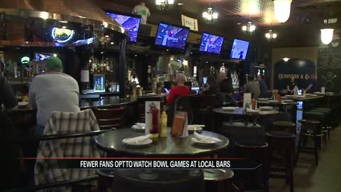 Cold weather sees fewer fans out at bars during bowl games