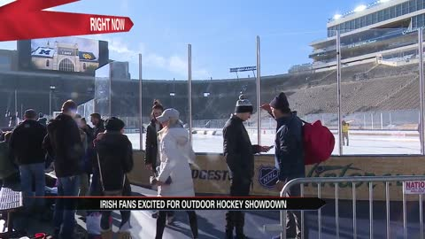 Fighting Irish fans excited for outdoor hockey showdown