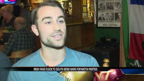 Fighting Irish fans flock to South Bend bars for Notre Dame football watch parties
