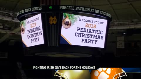 Fighting Irish give back for the holidays
